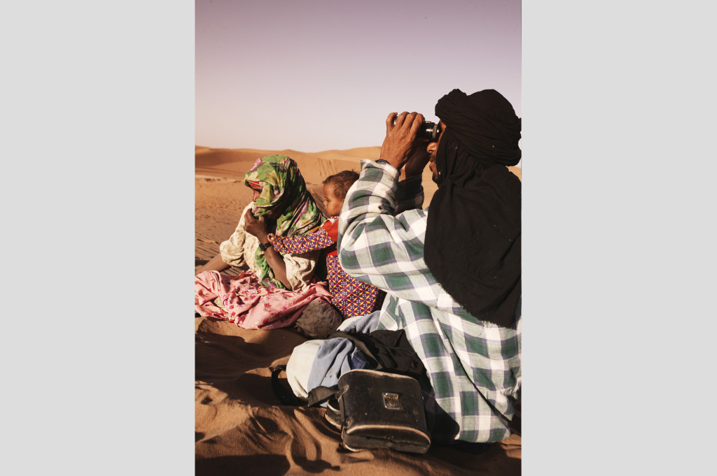 Touareg Familie in der Sahara
